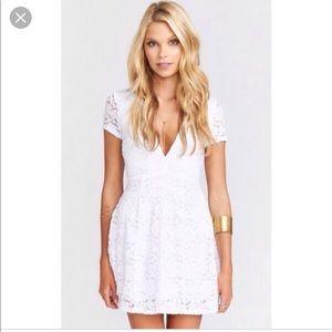 Show me your mumu Ibiza lace dress